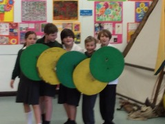 Learning about Viking shields