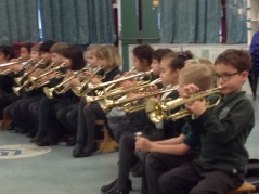 All our Year 3 pupils learn to play Brass