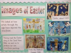Pupils learn about the Church year in RE