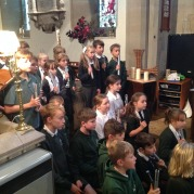 Y6 'Harvest Hymn' hand chimes at St Chad's