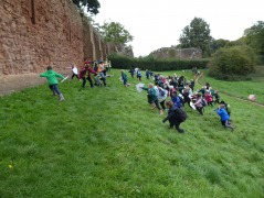 Year 1 & 2 storming the castle at Kenilworth